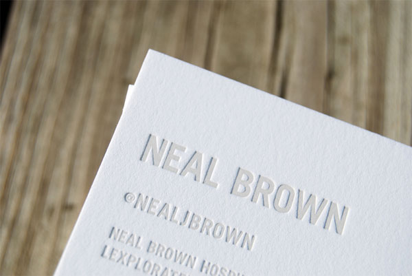 Neal Brown Hospitality Group Business Cards