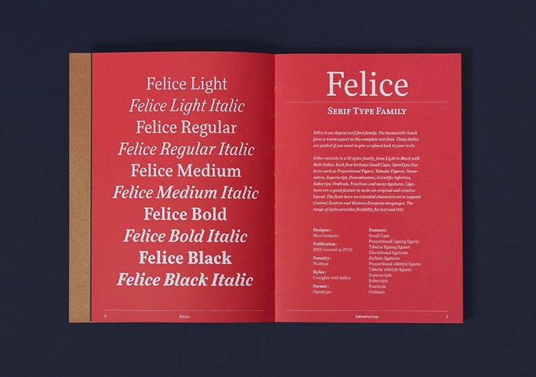 Felice Type Specimen