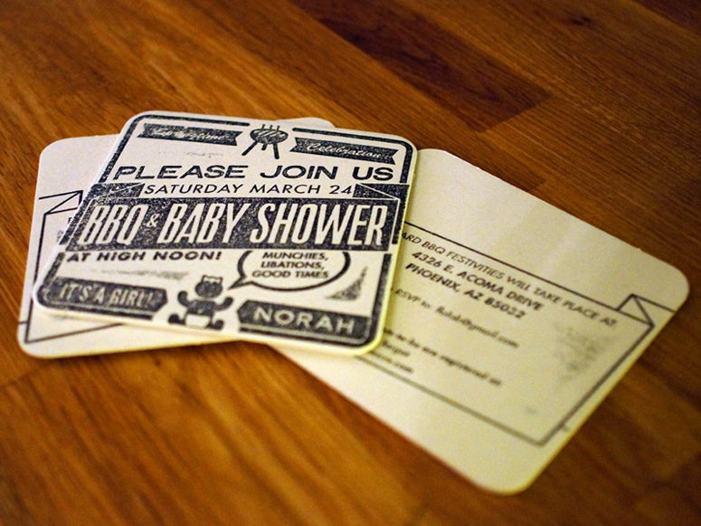 Baby Norah's Shower Invites