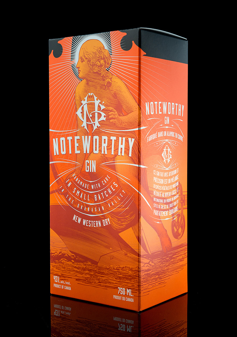 Noteworthy Gin Packaging