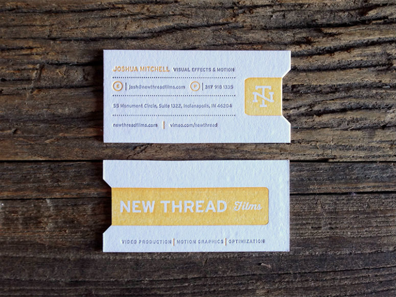 New Thread Films Business Cards