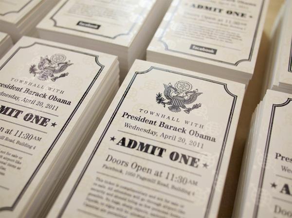 President Barack Obama at Facebook Tickets