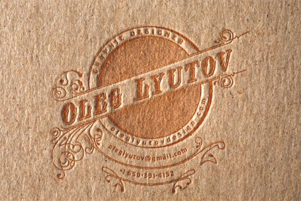 Oleg Lyutov Business Card