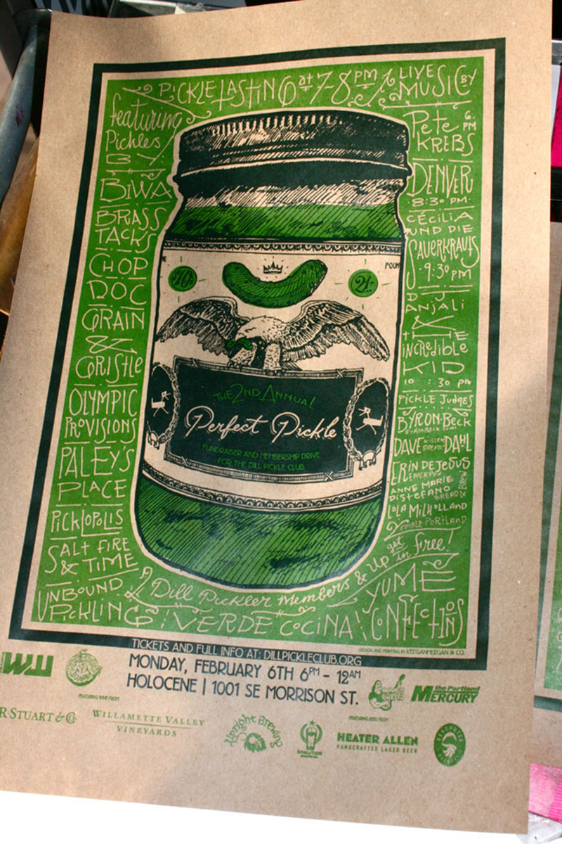Dill Pickle Club Fundraising Poster
