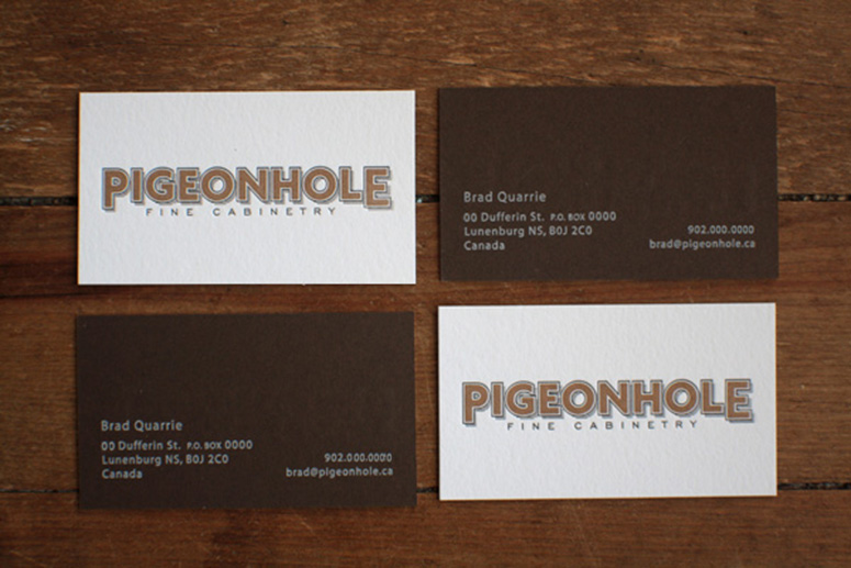 Pigeonhole Fine Cabinetry Business Card