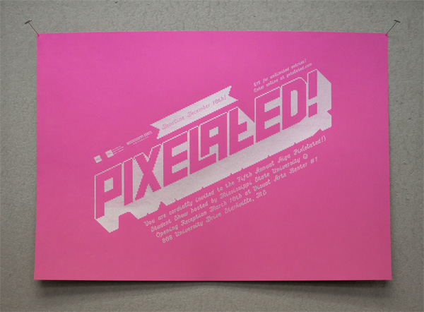 5th Annual MSU AIGA Graphic Design Student Show Poster