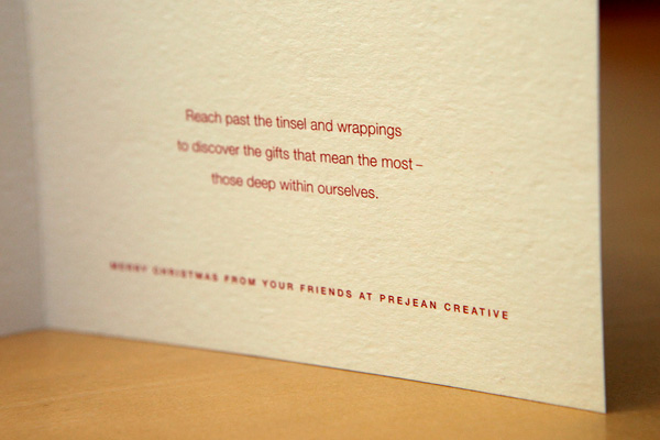 Prejean Creative Holiday Card