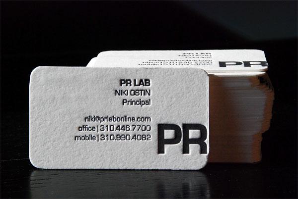 PR Lab Business Card