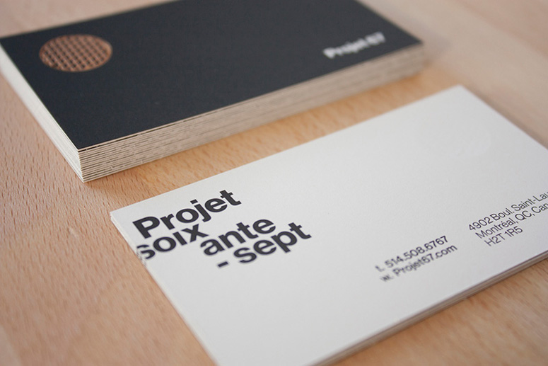 Projet 67 Business Card, Menu, and Gift Card