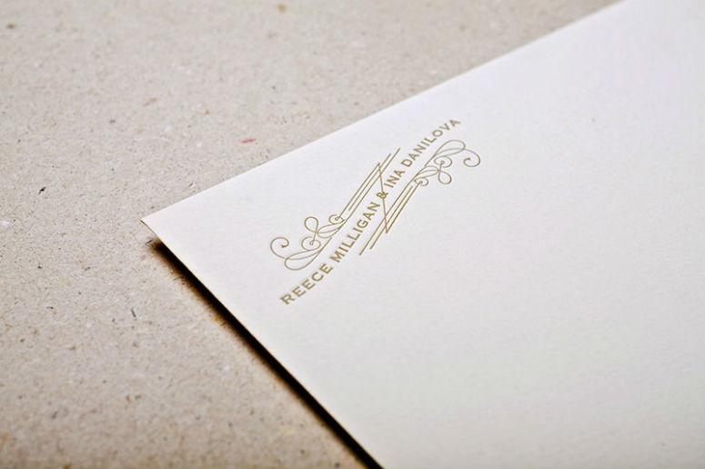 Reece & Ina Wedding Invitation
