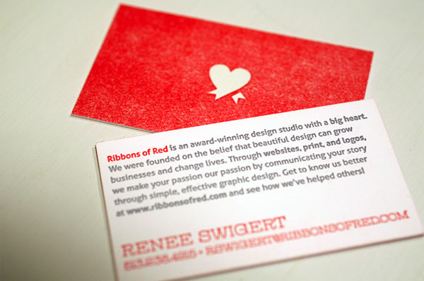 Ribbons of Red Business Card