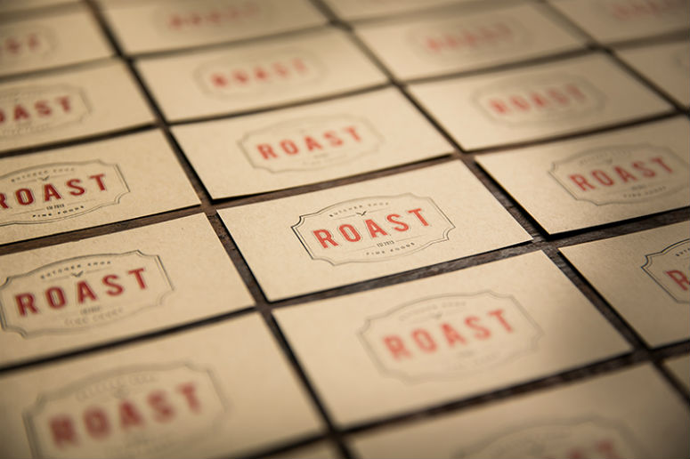 Roast Fine Foods Identity Materials