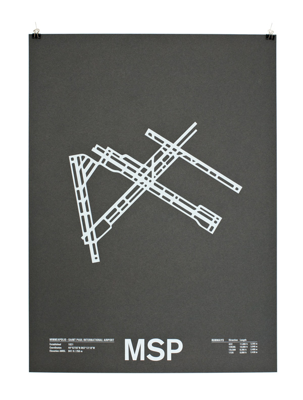 Airport Runways Screenprint Poster Series