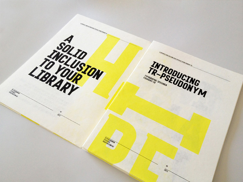 Tim Ruxton Self-Promo Type Specimen Poster