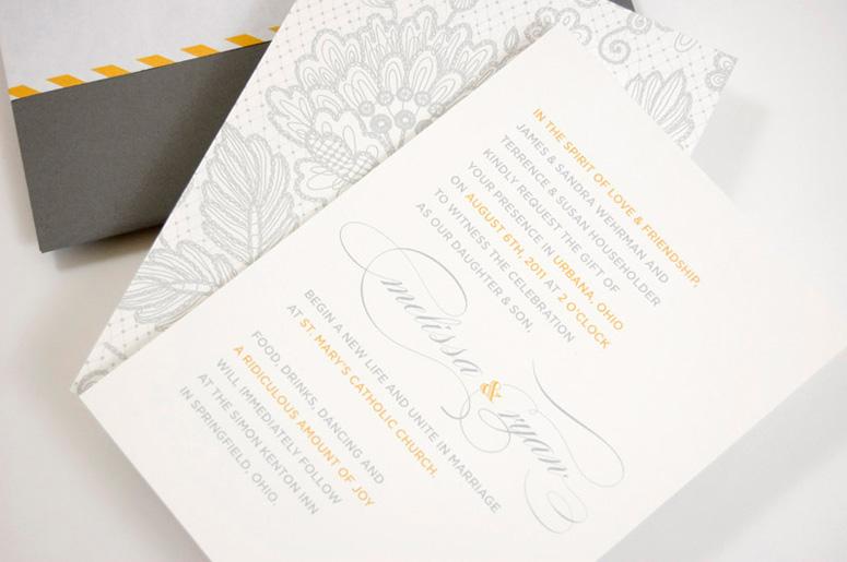 Ryan and Melissa Wedding Invitation