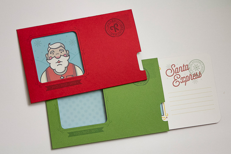 Santa Express Christmas Cards