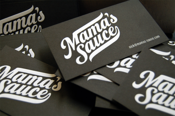 Mama's Sauce Business Cards