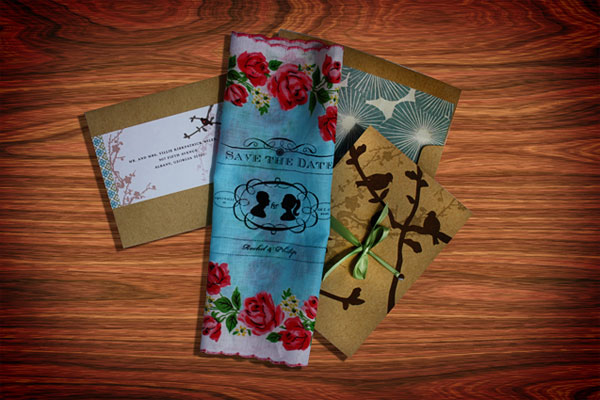 Save The Date Handkerchiefs