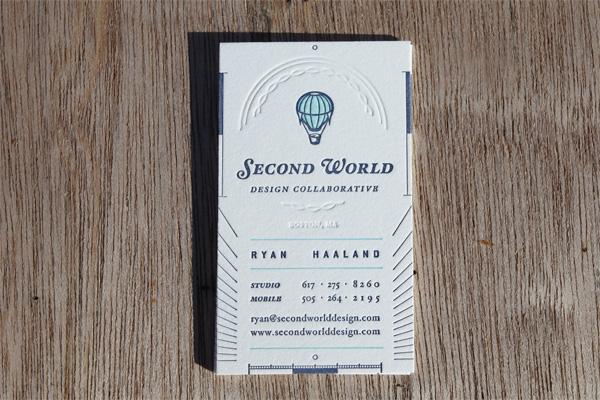 Second World Business Card