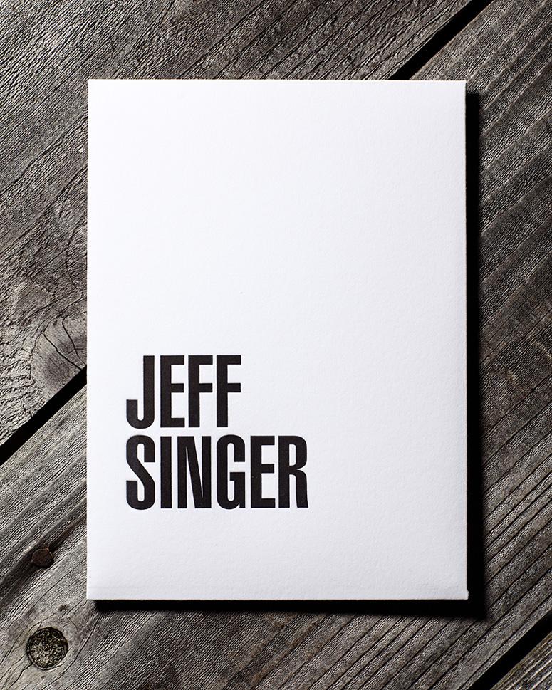 Jeff Singer Self Promotion