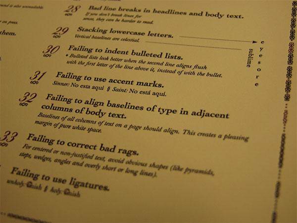 Typographic Sins Poster