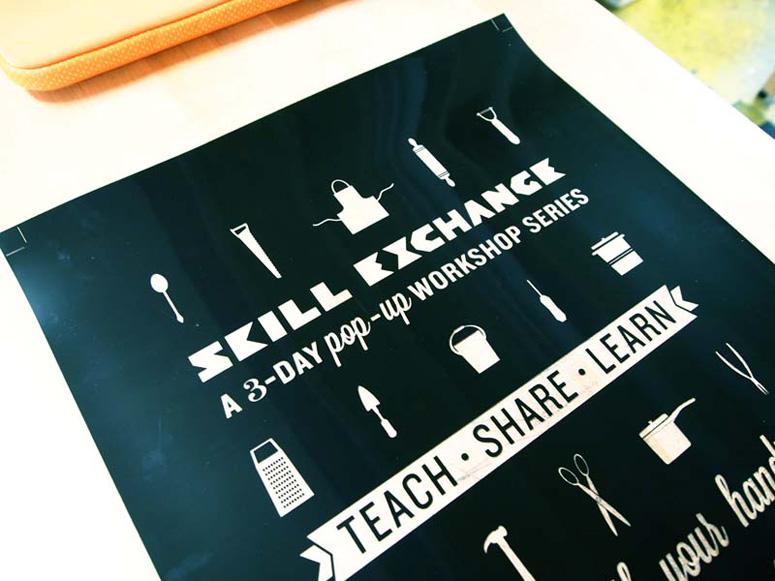 Skill Exchange Pop-up Workshop Poster