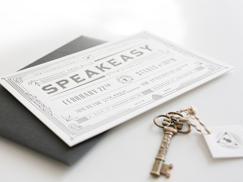 fpo  prpl speakeasy invitation