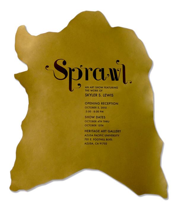 Sprawl Exhibition Poster