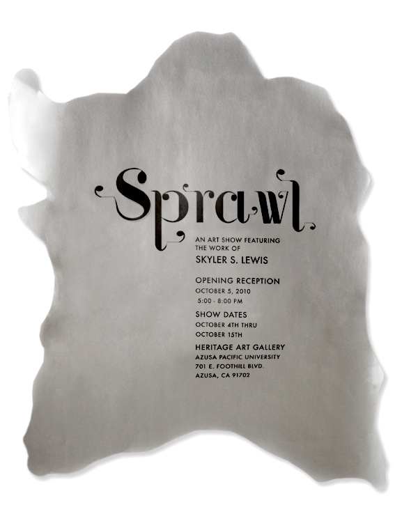 Sprawl Exhibition Poster