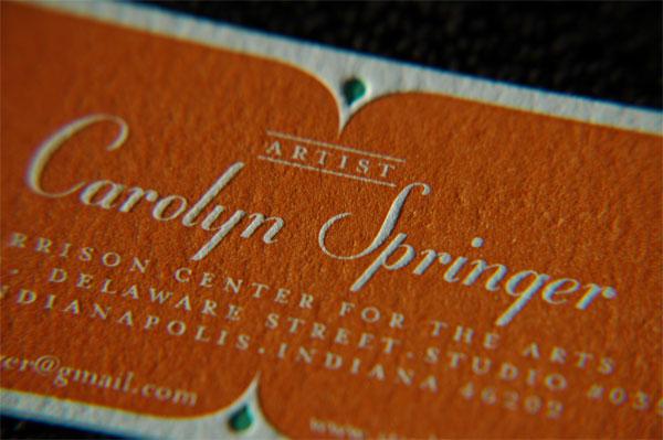Caroline Springer Business Card