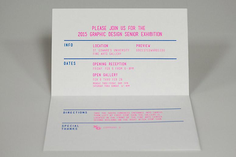 St. Edward's 2015 Graphic Design Seniors Mailer