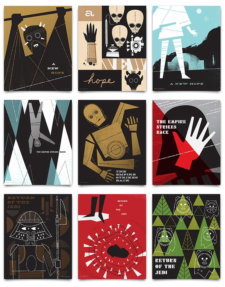 Star Wars × Ty Mattson Posters