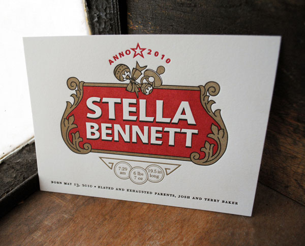Stella B. Birth Announcement