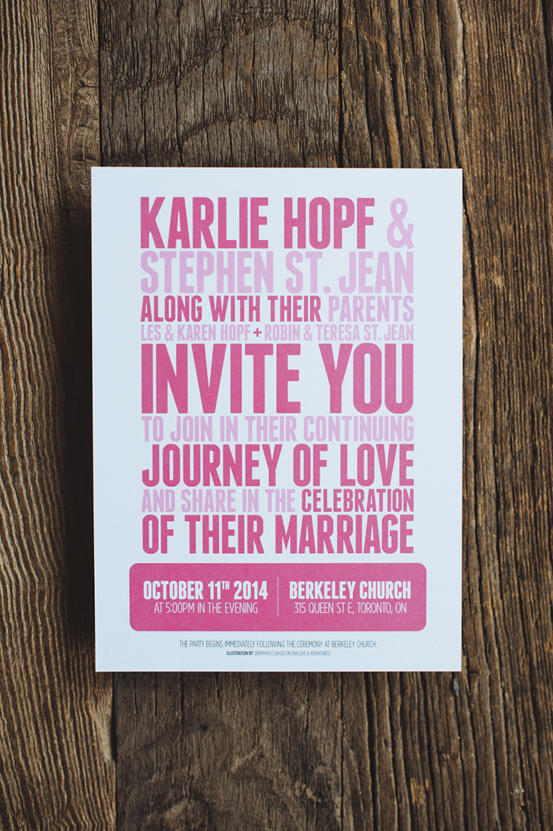Steve and Karlie Wedding Invitation