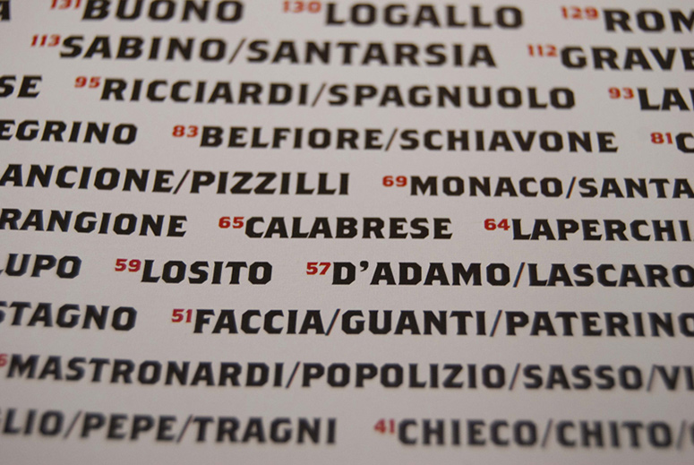 Matera's Surnames Poster