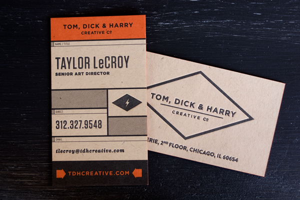 Tom, Dick & Harry Business Card