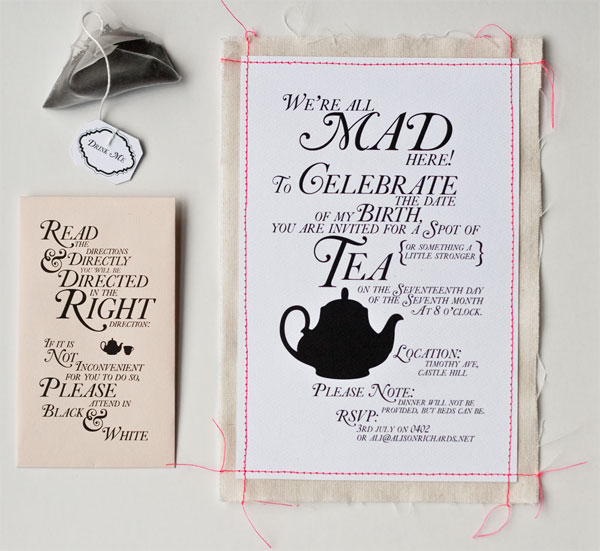 Tea Party Invitation 1657 readersWith lots of wedding invitations in our