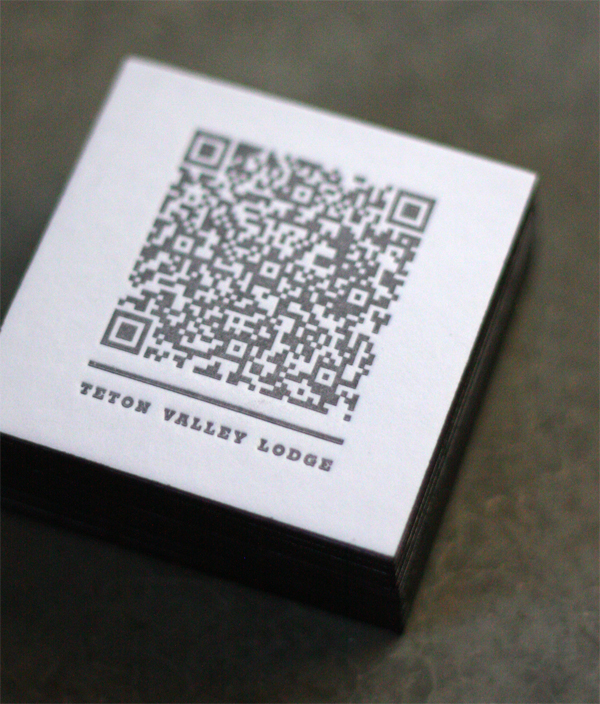 Teton Valley Lodge Business Card