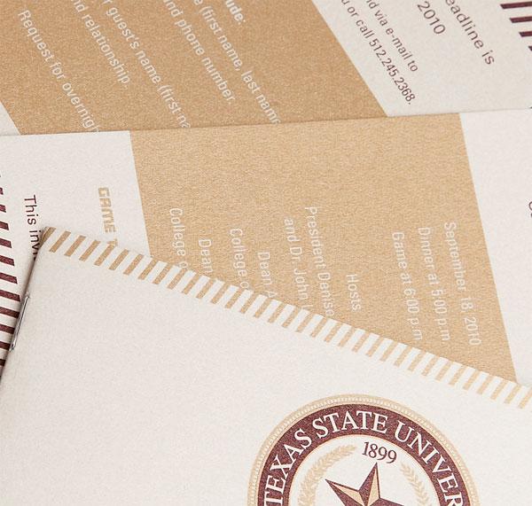 Texas State University Presidential Football Invitation