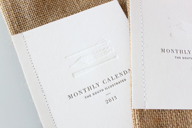 The South Illustrated 2013 Calendar