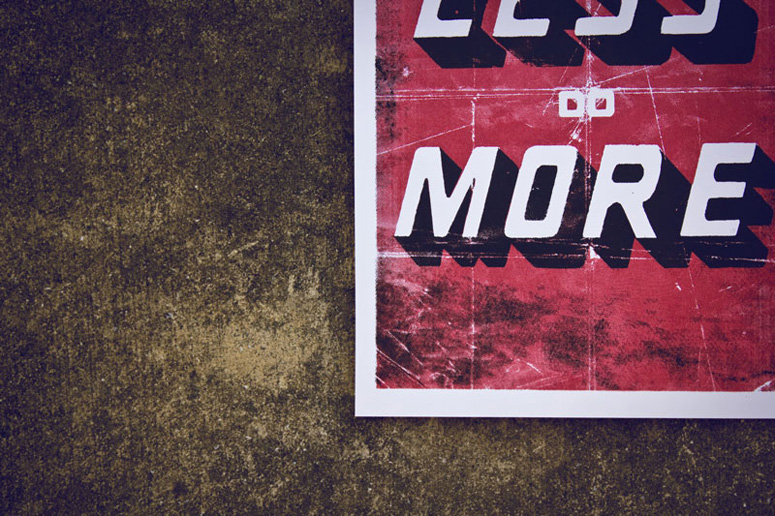 Think Less Do More Poster