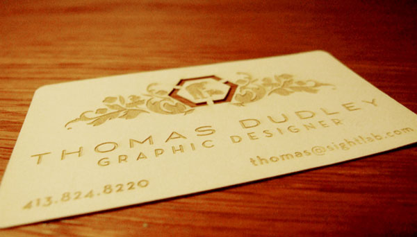 Thomas Dudley Business Card