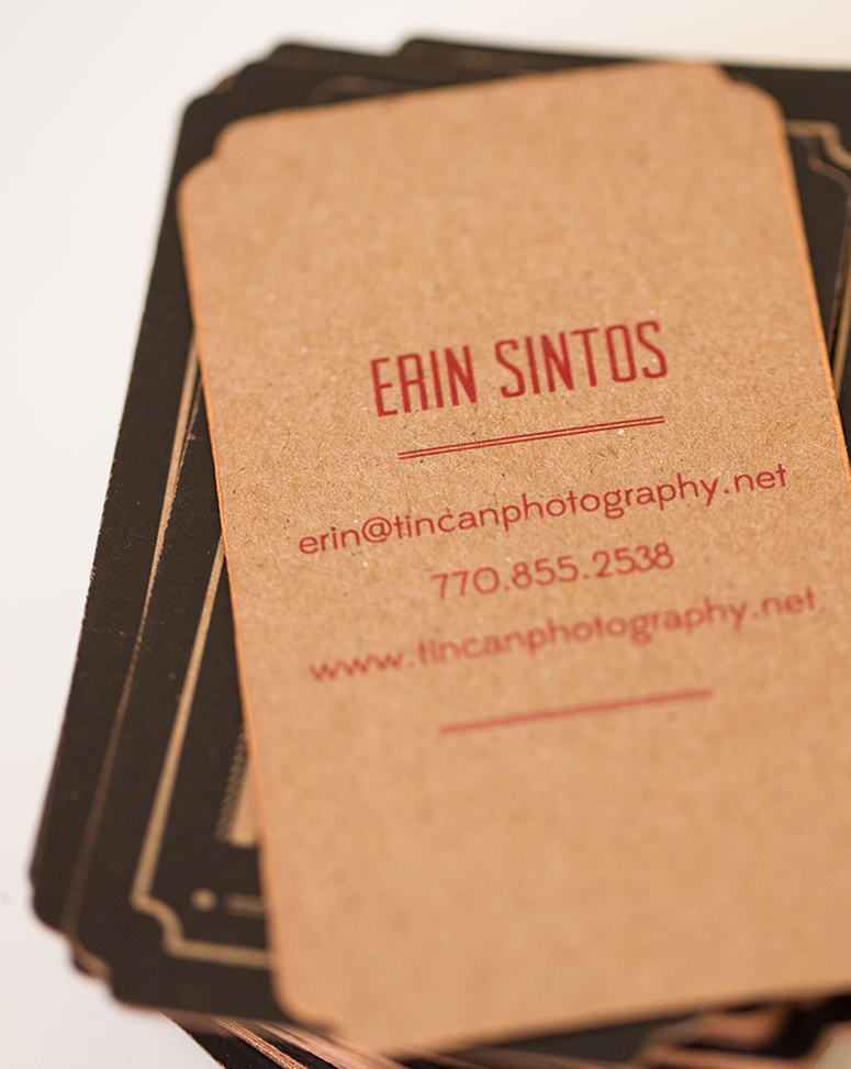Tin Can Photography Business Card