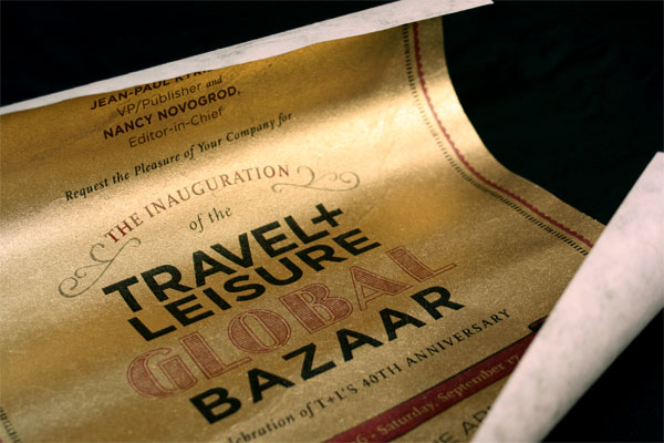 Travel and Leisure Global Bazaar VIP Invite Packet