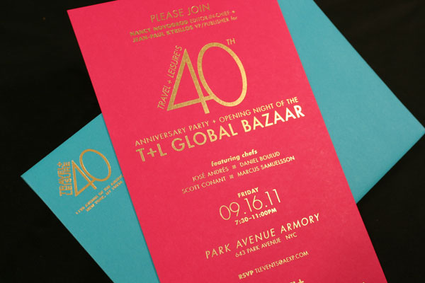 Fpo travel leisure 40th anniversary party invite travel and leisure 40th anniversary party invite stopboris Choice Image