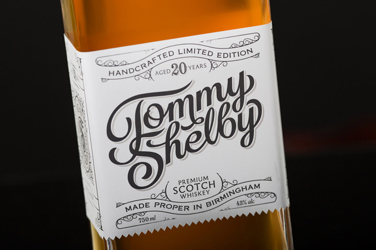 Tommy Shelby Whiskey Packaging