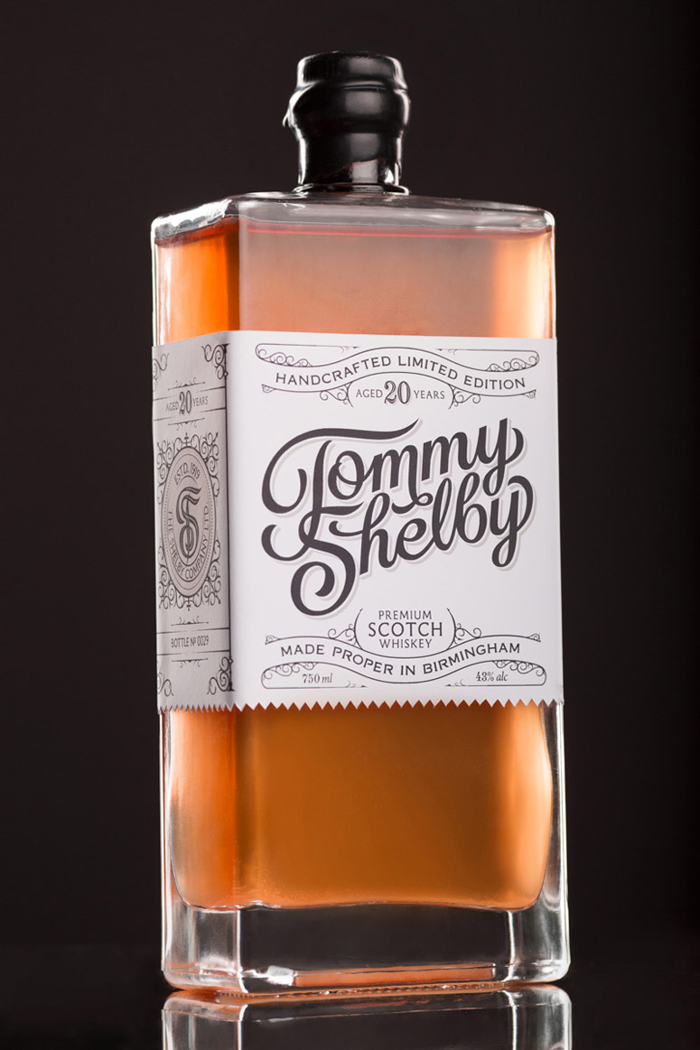 fpo  tommy shelby whiskey packaging