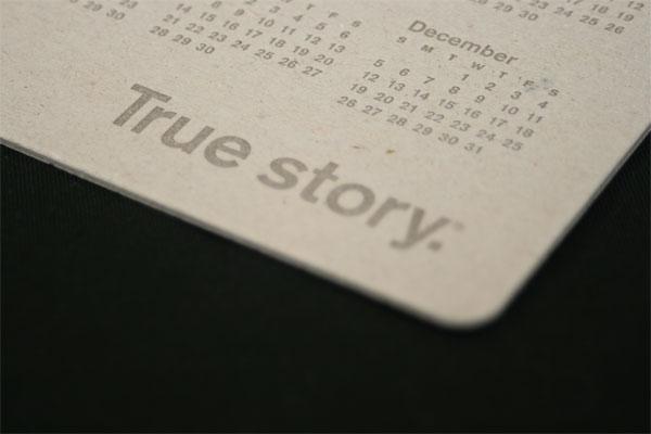 True Story 2010 Calendar