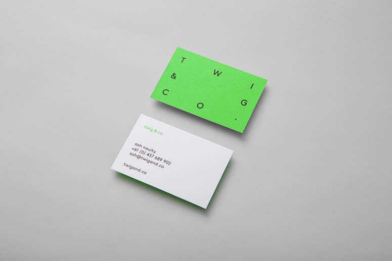 Twig and Co. business card