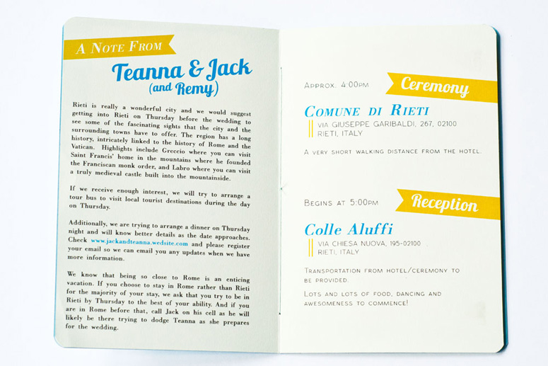 Jack & Teanna Wedding Invitation